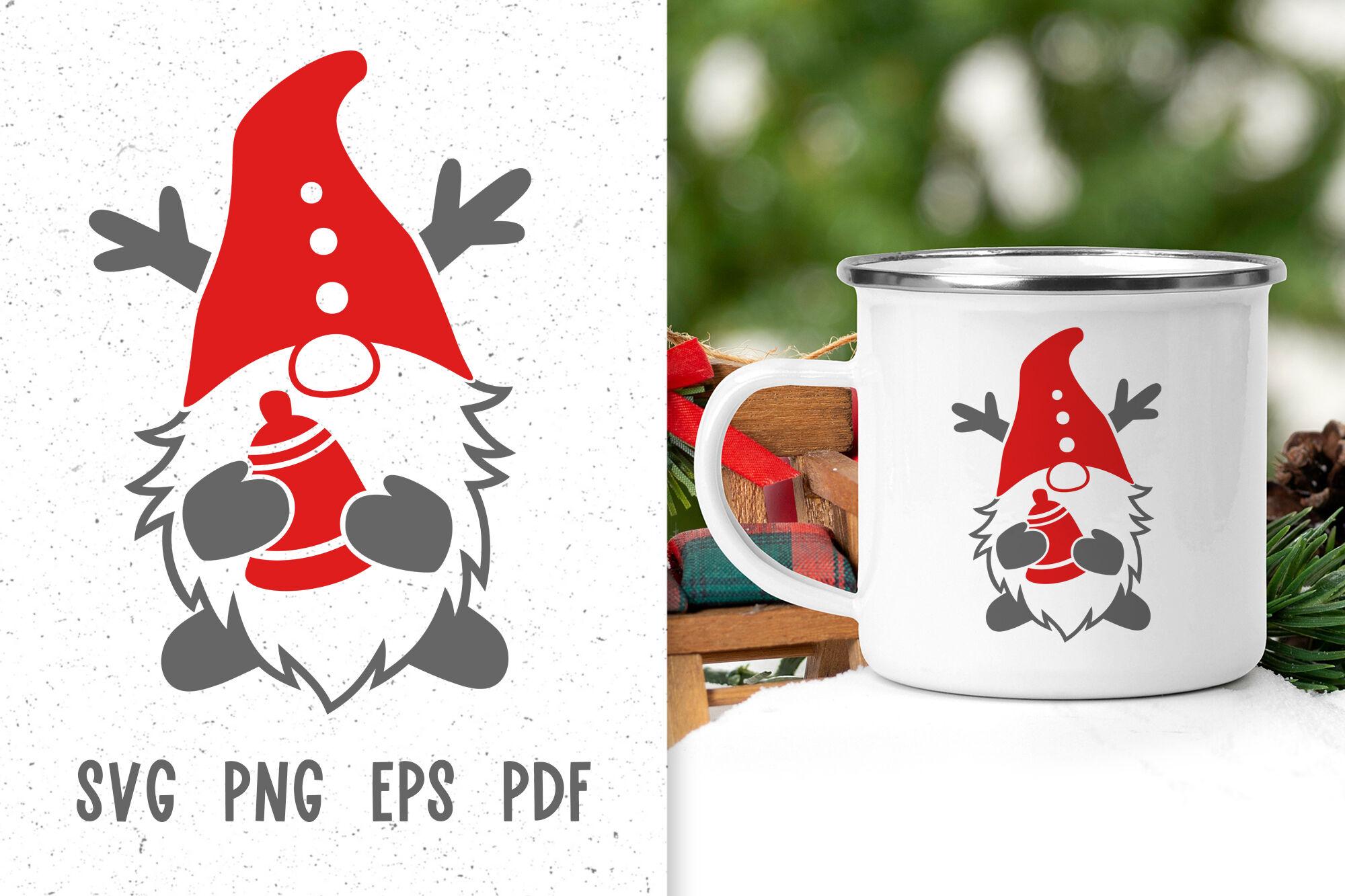 Christmas Gnome Svg Files For Cricut Christmas Mug Design Winter Gnome By Green Wolf Art Thehungryjpeg Com
