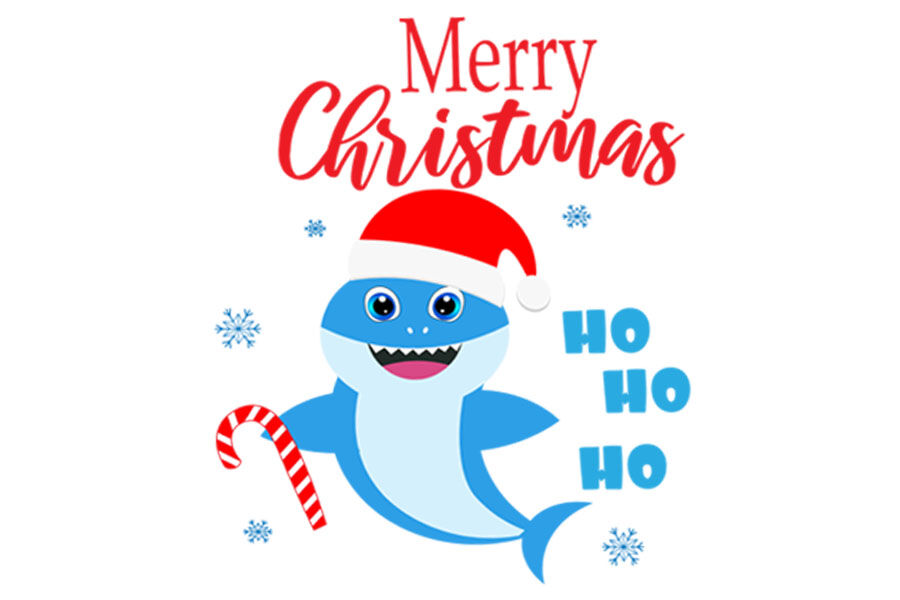Christmas Shark Svg Cut Files Merry Christmas Svg Baby Shark Svg B By Lillyarts Thehungryjpeg Com
