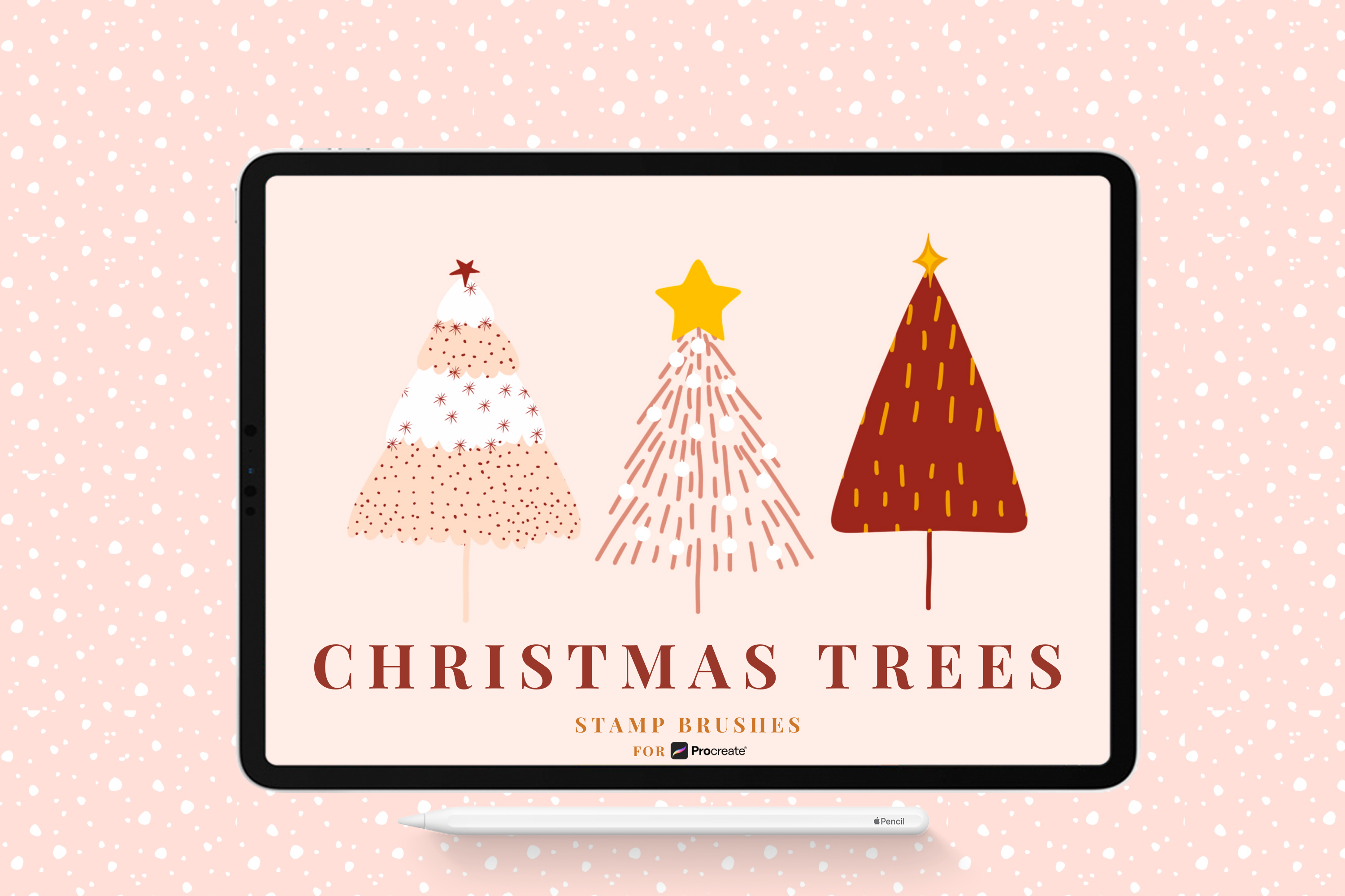 Christmas Tree Stamp Brushes for Procreate By Christine ...