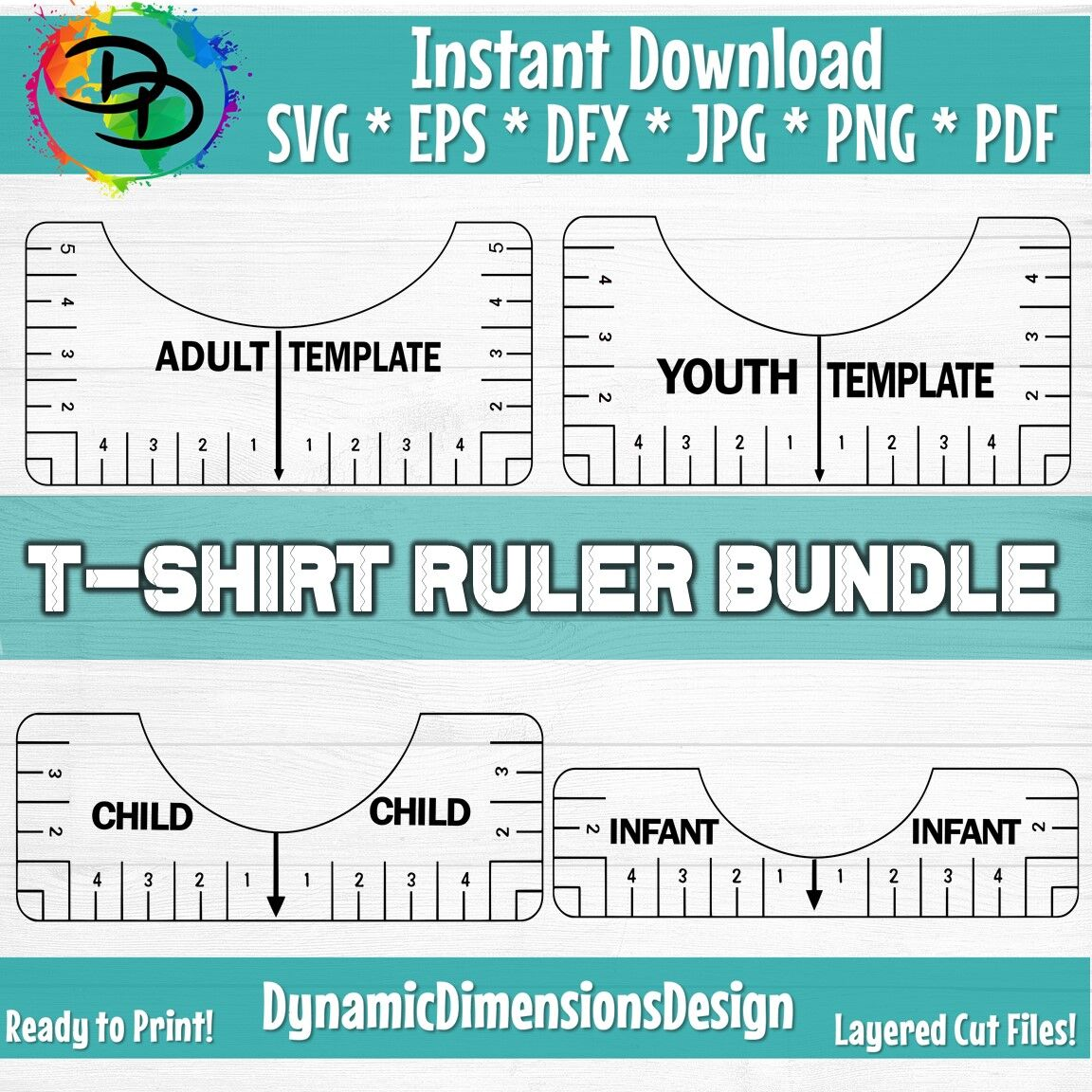 Tshirt Ruler Svg Bundle T Shirt Alignment Tool Dxf Shirt Placement G By Dynamic Dimensions Thehungryjpeg Com