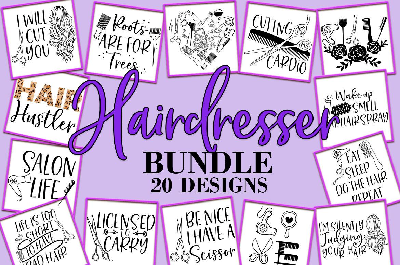 Hairdresser Bundle Svg Hair Salon Design Bundle By Freeling Design House Thehungryjpeg Com