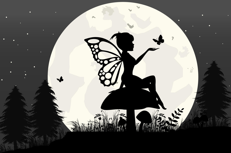 Fairy Silhouette By Curutdesign Thehungryjpeg Com