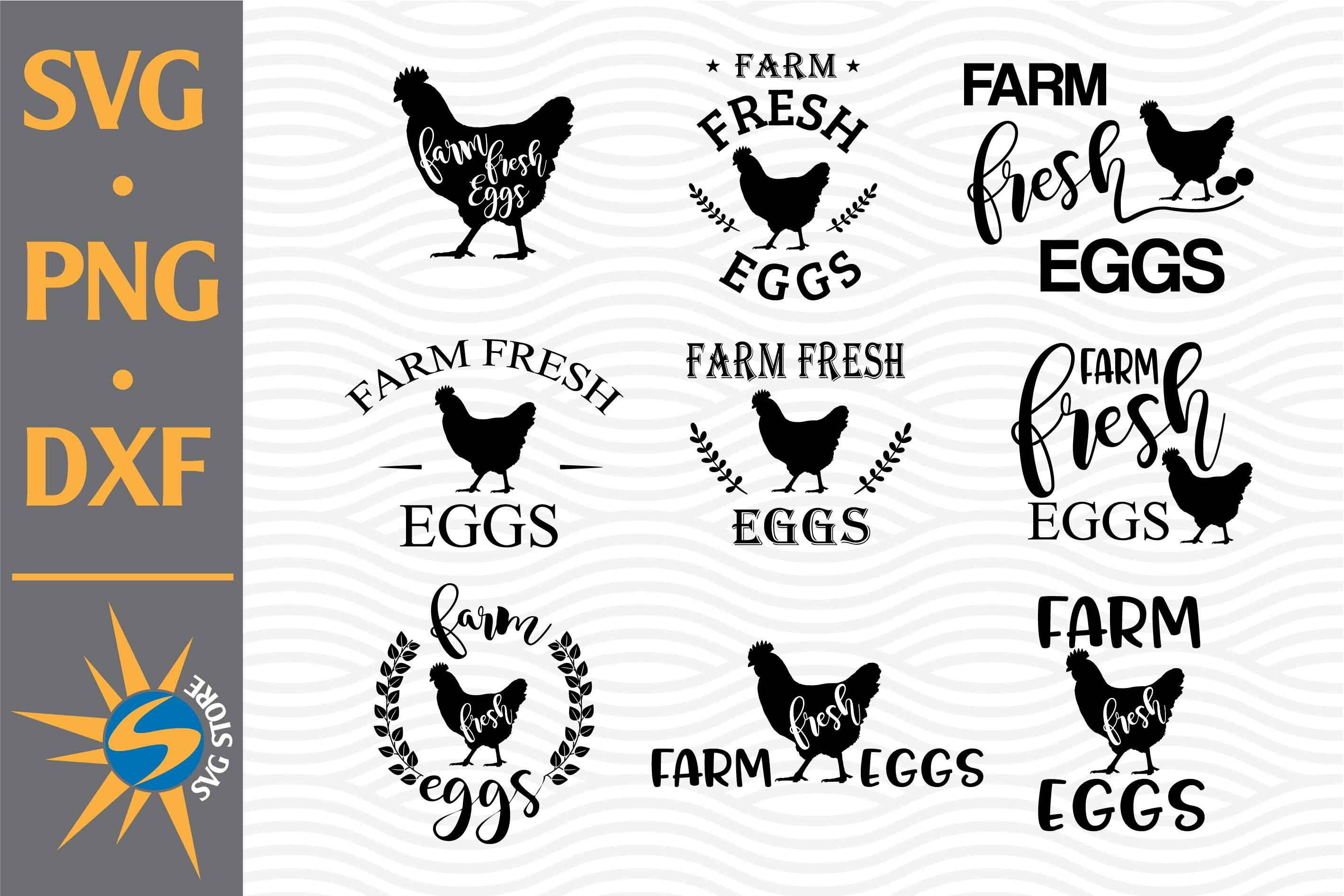 Farm Fresh Eggs Svg Png Dxf Digital Files Include By Svgstoreshop Thehungryjpeg Com