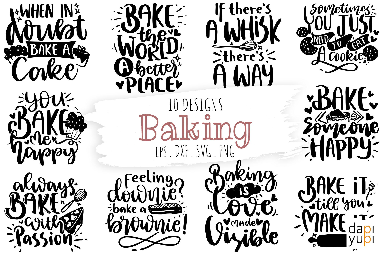 Baking Quotes Bundle Kitchen Quotes Svg Baking Svg Lettering Quotes By Dapiyupi Thehungryjpeg Com