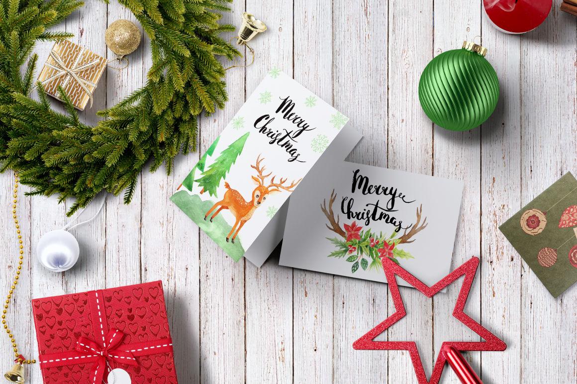 Watercolor Christmas Design Pack By Larysa Zabrotskaya