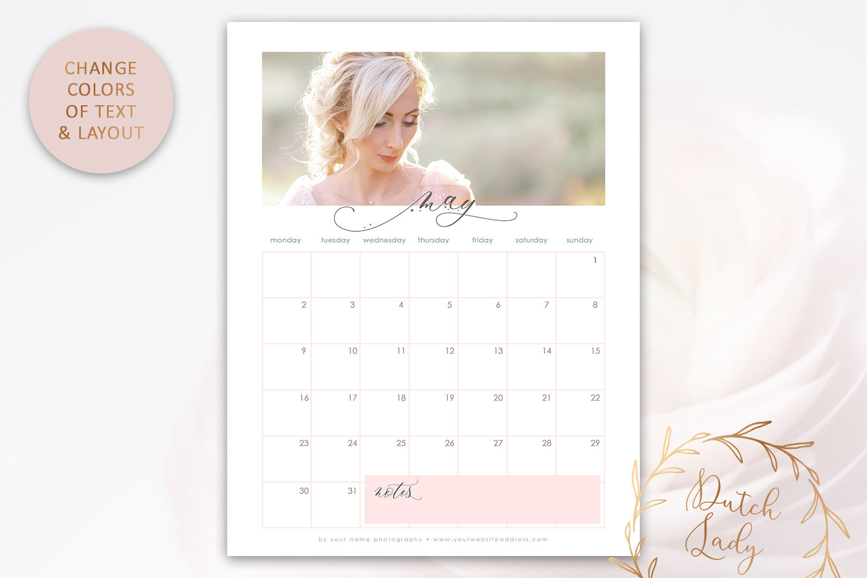Psd Calendar 2022.Psd Photo Calendar Template 2022 1 By The Dutch Lady Designs Thehungryjpeg Com