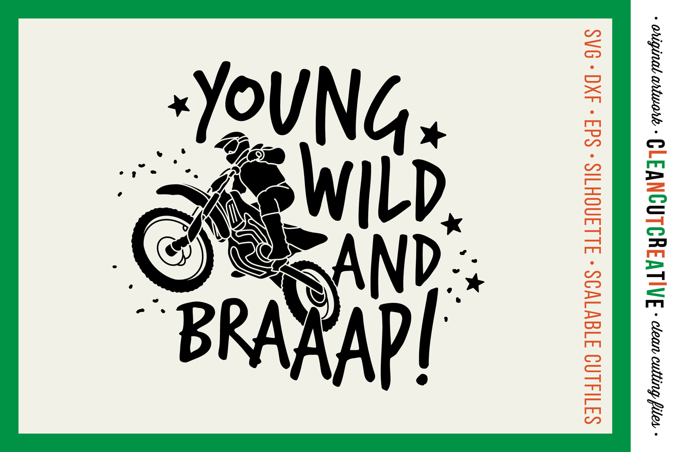 Young Wild And Braaap Boys Design For Motocross Dirt Bike Lovers