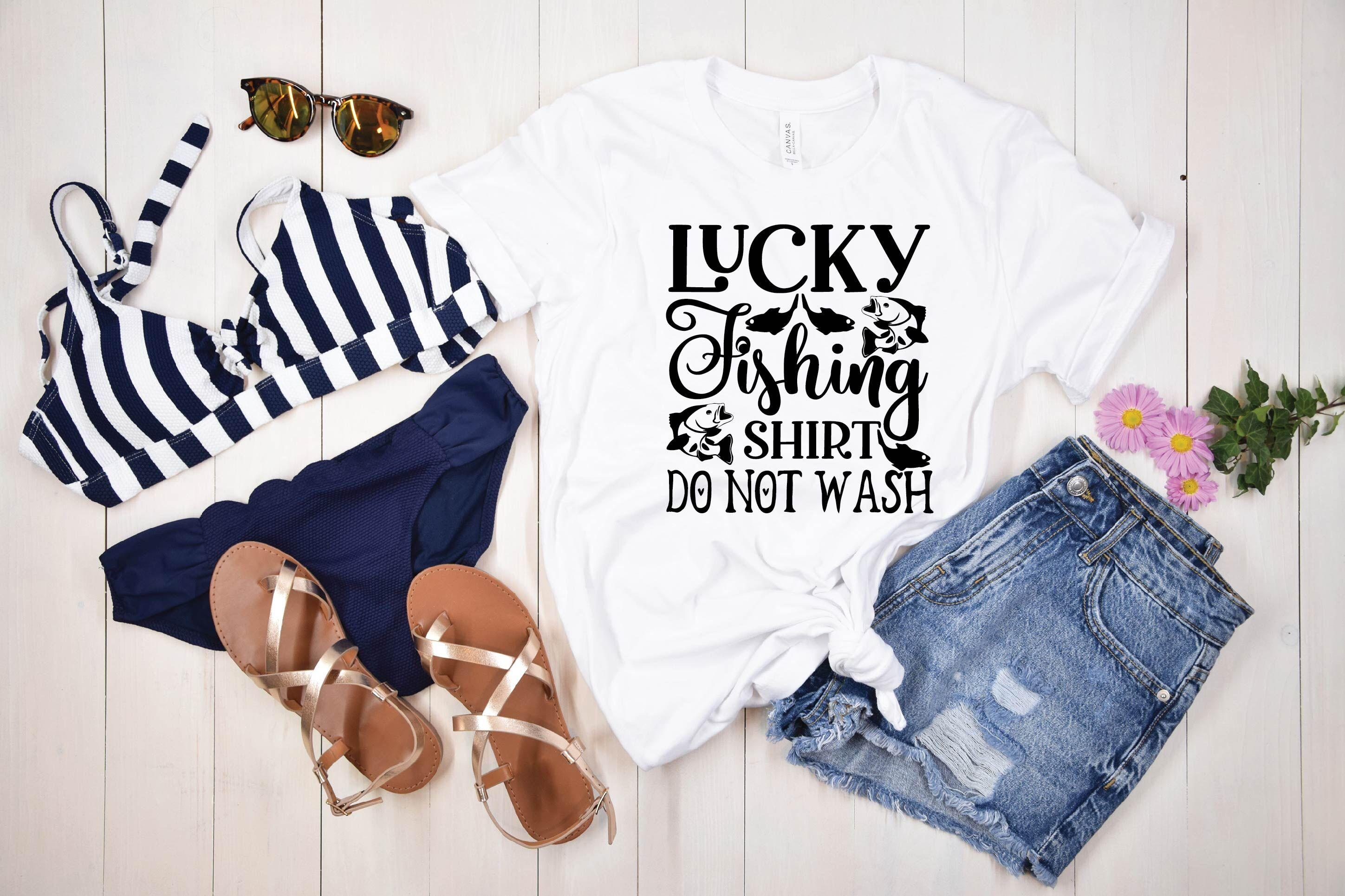 Download Lucky Fishing Shirt Do Not Wash Svg Design By Bdb Graphics Thehungryjpeg Com