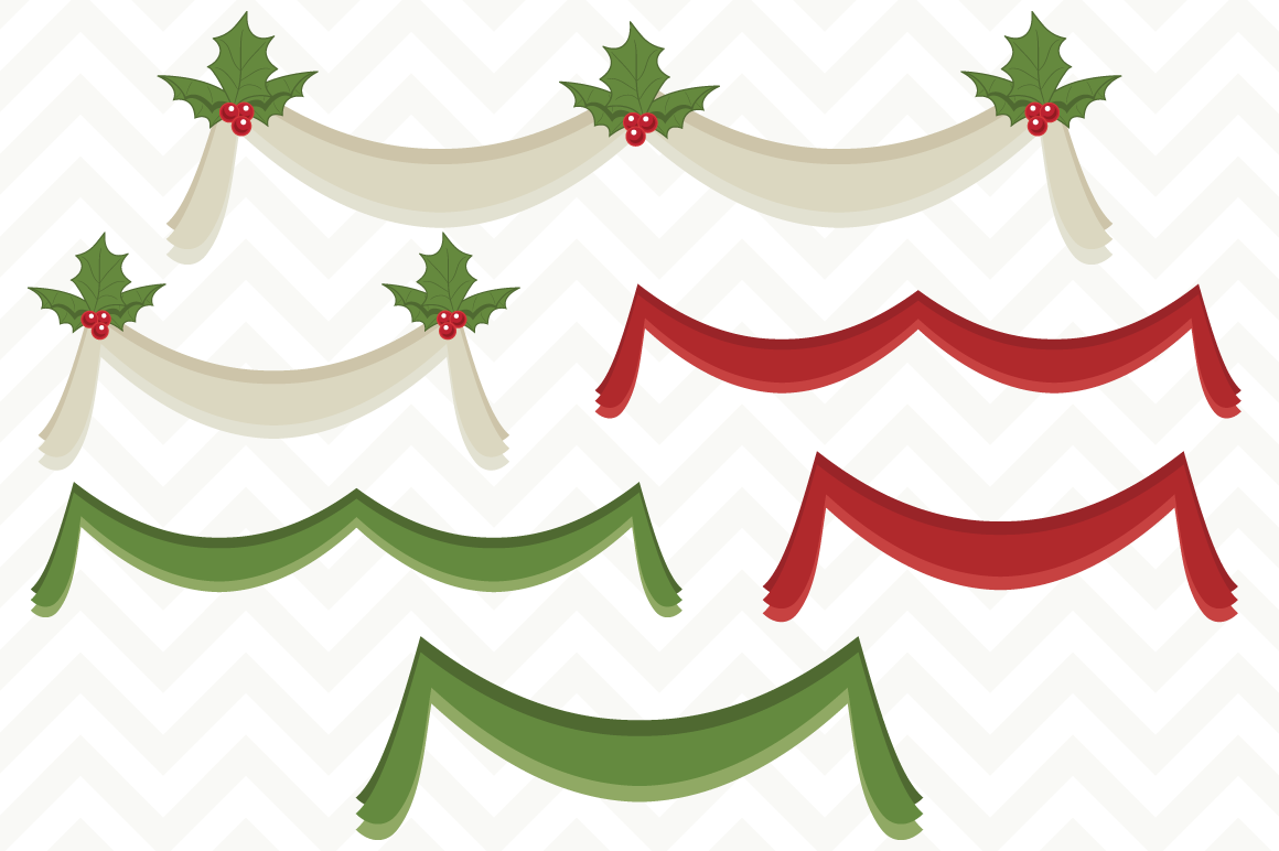 Christmas Bunting Banners By Sonya Dehart Design Thehungryjpeg Com