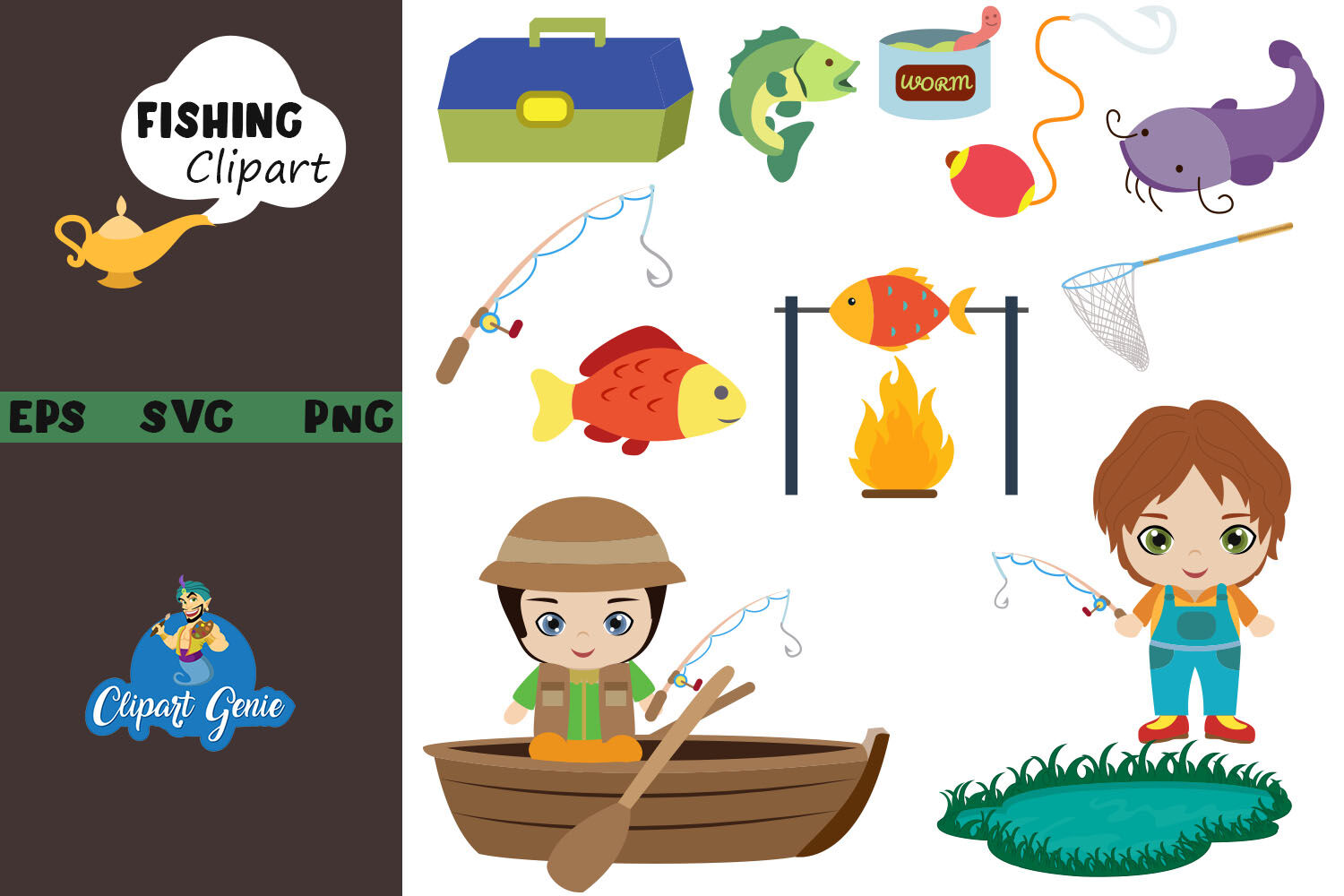 Download Fishing Clipart Hobby Clipart Svg By Clipartgenie Thehungryjpeg Com
