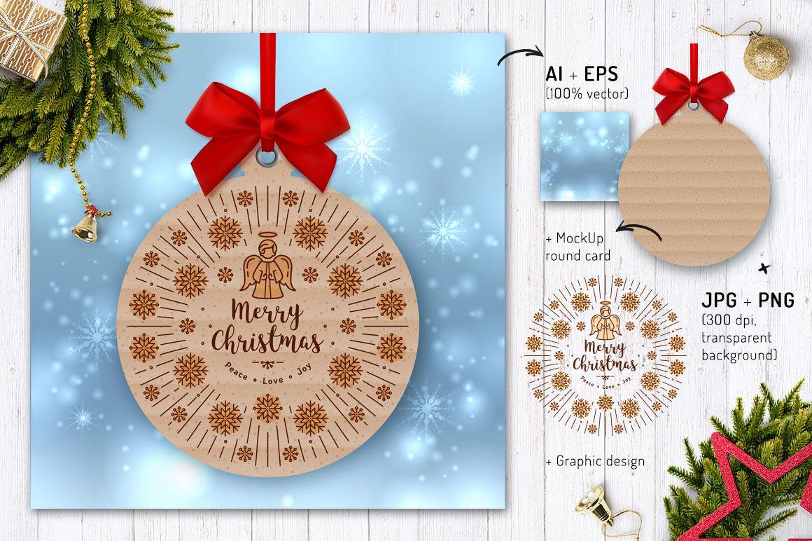 Line Christmas Icon Set Bonus By Decobrush Thehungryjpeg Com