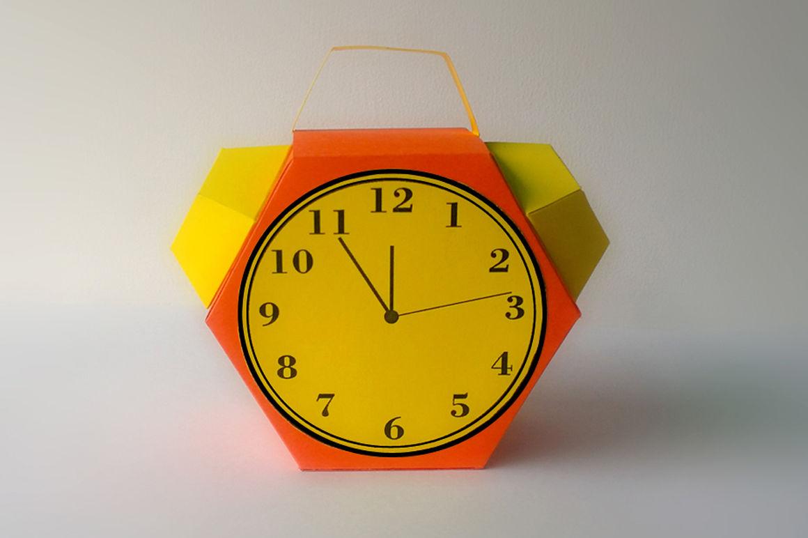 Diy Alarm Clock Favor Printable By Paper Amaze Thehungryjpeg Com