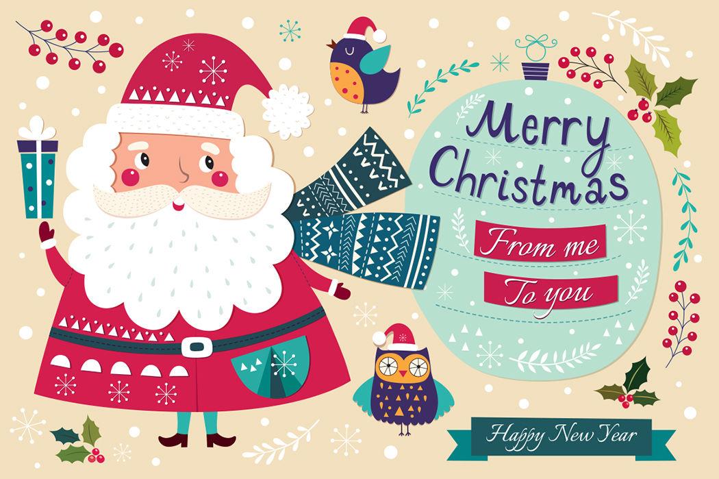 Illustrations With Santa Claus By Molesko Studio Thehungryjpeg Com