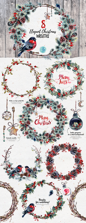 Mr Bullfinch Christmas Watercolor Pack By Southpaw Art Studio
