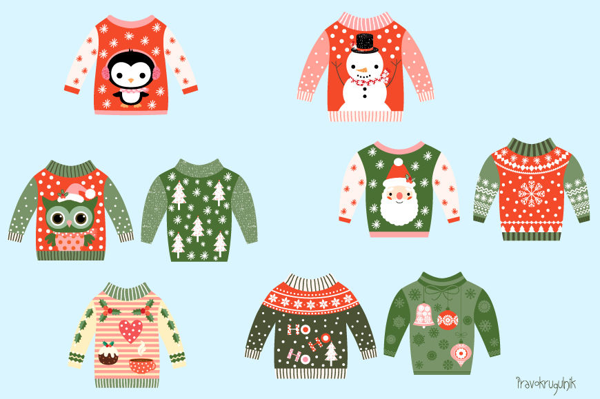 Christmas Sweater Clipart.Ugly Christmas Sweaters Clipart Cute Christmas Sweater Clip