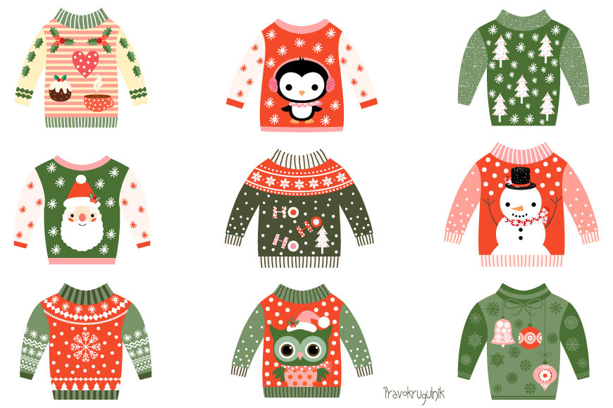 Ugly Christmas Sweaters Clipart Cute Christmas Sweater Clip Art
