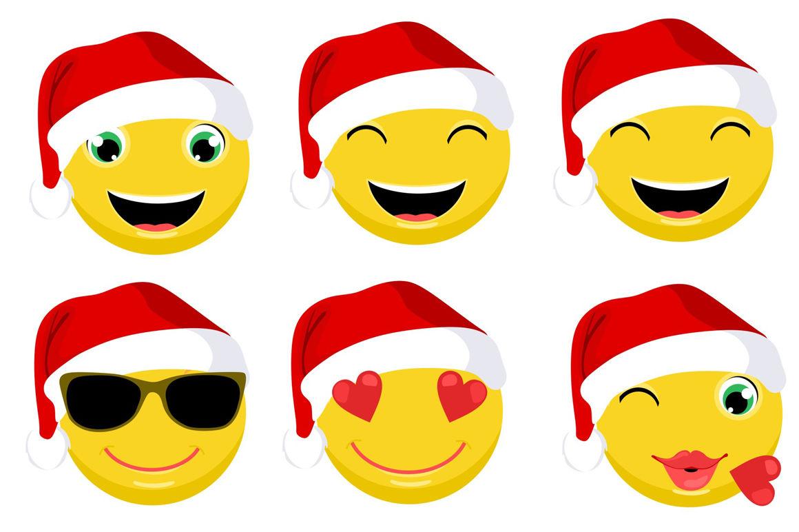 Christmas Emoticons Emoji Vector Set By Land Art Thehungryjpeg Com