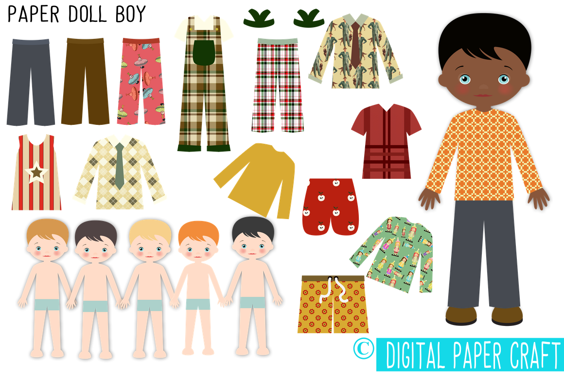 Paper Doll, Digital Paper doll, Cut out doll, Printable ...
