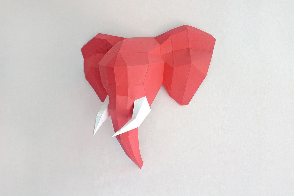 picture regarding Printable Trophy referred to as Do it yourself ELEPHANT Mind TROPHY (Printable) By way of PAPER amaze