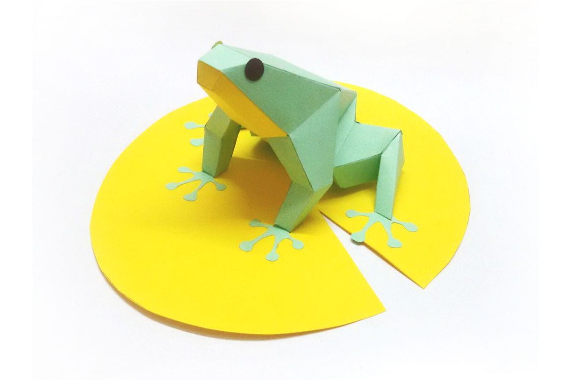 Diy Paper Frog Printable By Paper Amaze Thehungryjpeg Com