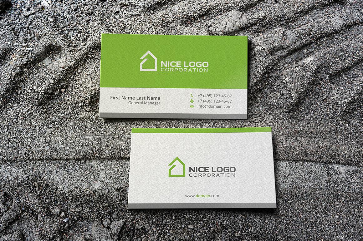 simple house business cardindigo  graphic shop
