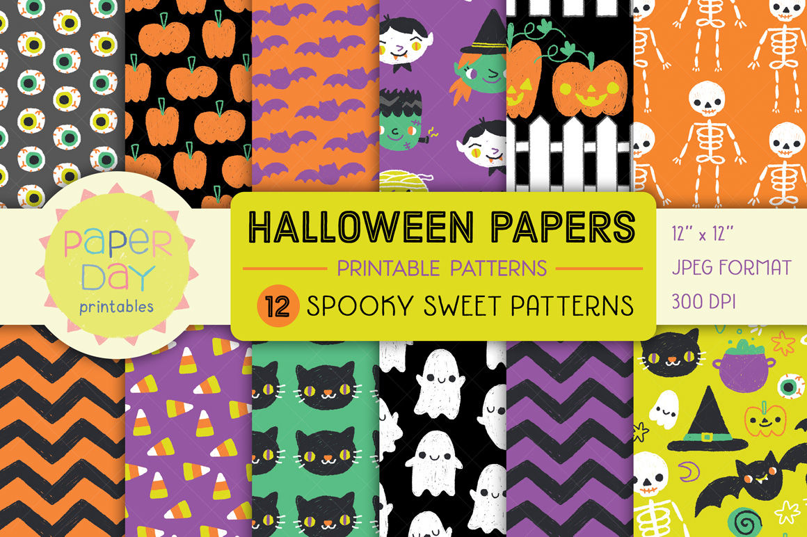 photograph relating to Printable Halloween Paper called Halloween Electronic Paper Pack By means of Paper Working day Printables