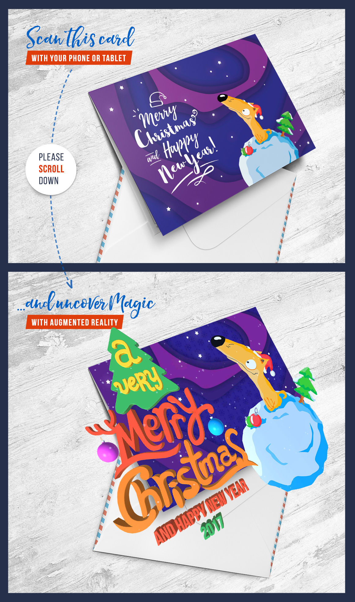 Christmas Card With Augmented Reality Android Edition By Nuoka