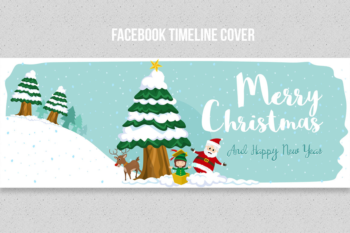 christmas facebook timeline covers by land art