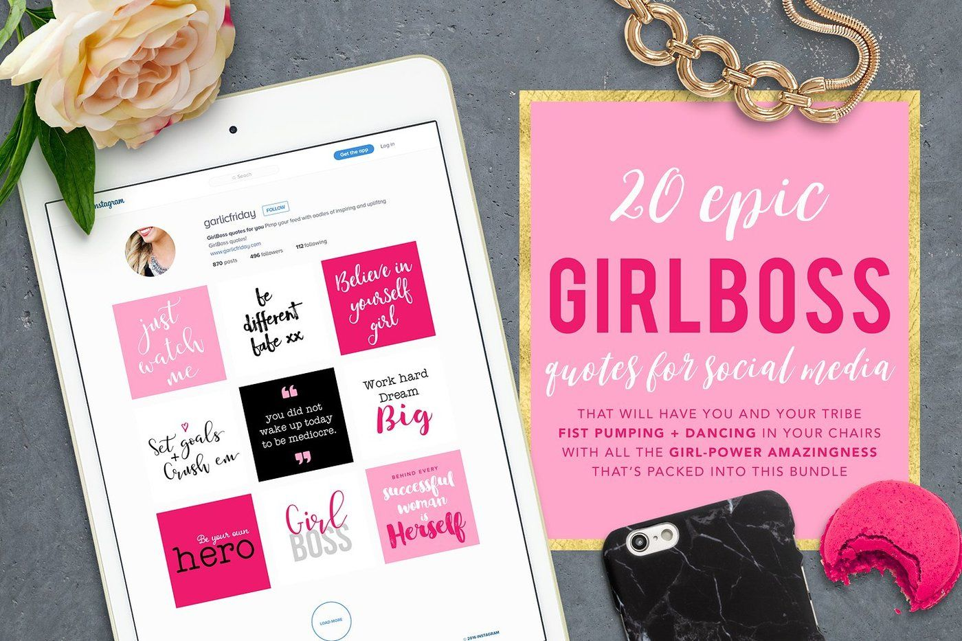 The Epic Girl Boss Instagram Bundle By Garlic Friday Design