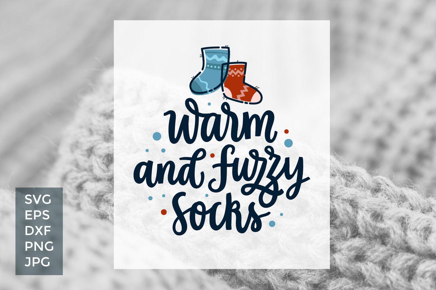 Fuzzy Socks, vector cut files By Zira Zulu | TheHungryJPEG com