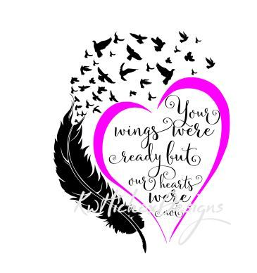 Your Wings Were Ready Svg Dxf Png Eps Cutting File By Kerry