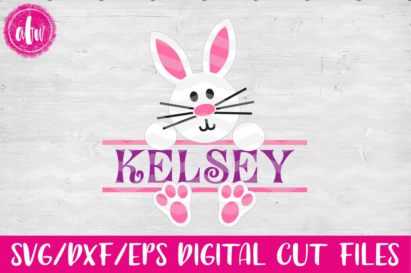 Split Bunny Svg Dxf Eps Cut File By Afw Designs