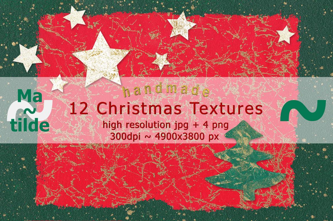 12 Handmade Christmas Textures By Matilde Thehungryjpeg Com