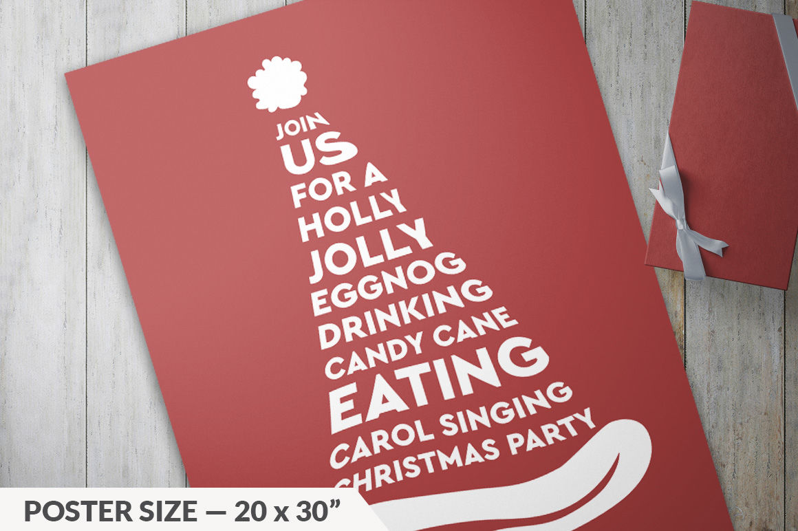 Christmas Invitations By Designs By Justin Lynch Thehungryjpeg Com