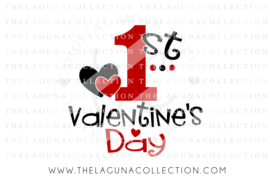 First Valentine S Day Boy Girl Valentine By The Laguna Collection Thehungryjpeg Com