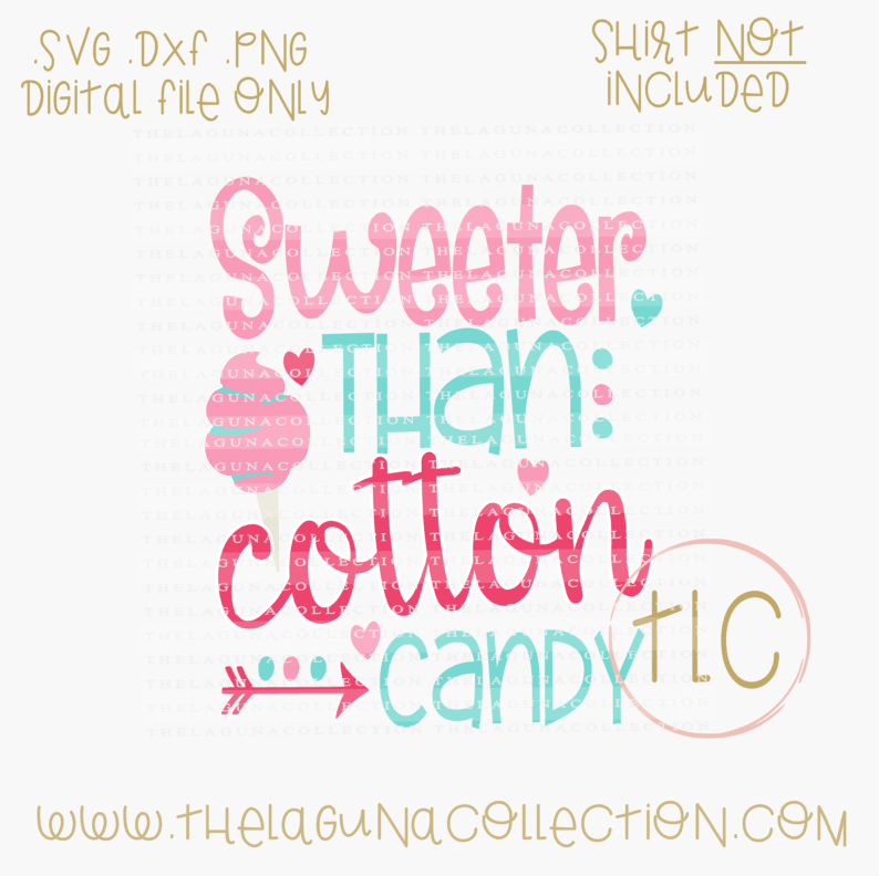 Sweeter Than Cotton Candy By The Laguna Collection Thehungryjpeg Com