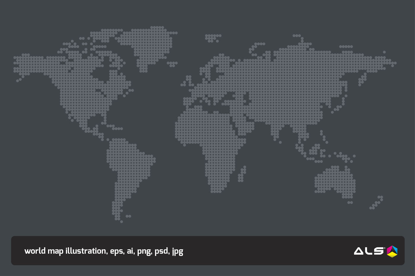 World Dotted Map By Als Design Thehungryjpeg Com