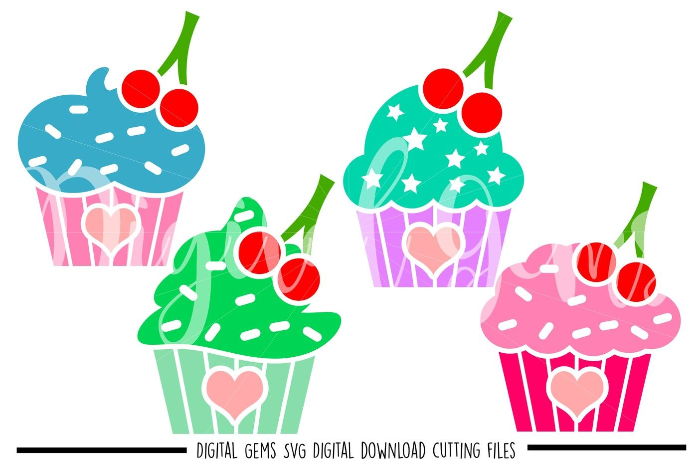 Cupcake Svg Dxf Eps Png Files By Digital Gems