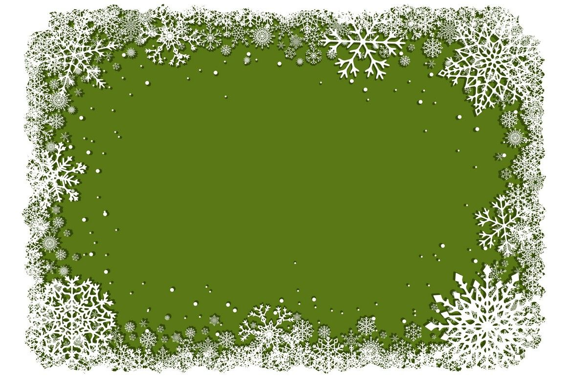 Green Christmas Snowflakes Frames Vector By Msa Graphics