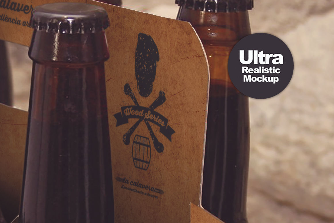 6 Pack Beer Box Mockup By Smart Designs Thehungryjpeg Com