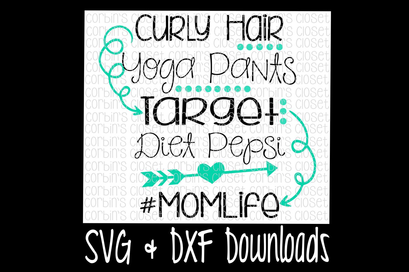 Curly Hair Yoga Pants Target Diet Pepsi Momlife Cutting File By Corbins Svg Thehungryjpeg Com