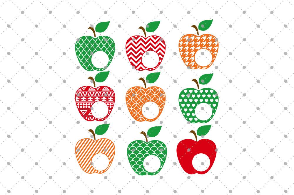 Apple Monogram Frames Files By Svg Cut Studio Thehungryjpeg Com