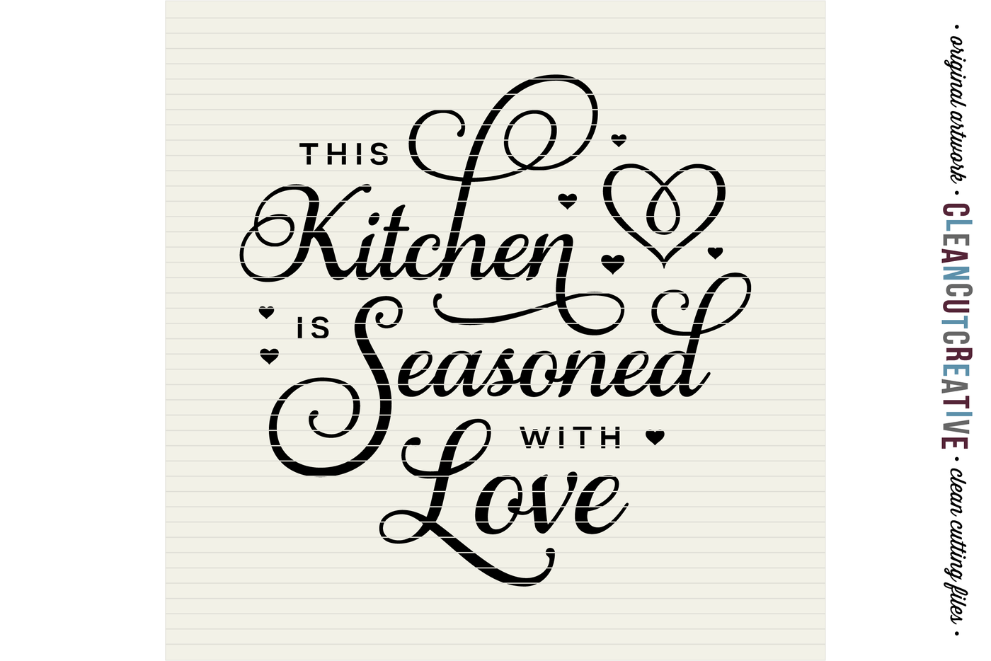This Kitchen Is Seasoned With Love Svg Dxf Eps Png Cricut