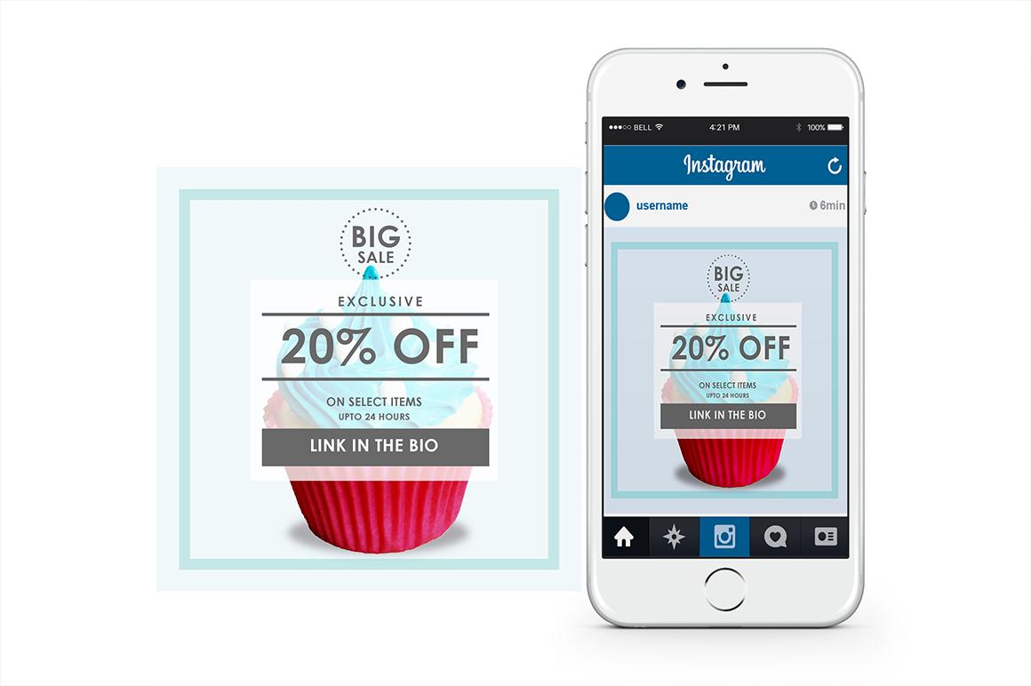 Minimal And Simple Instagram Promo Posts By Vova Studio