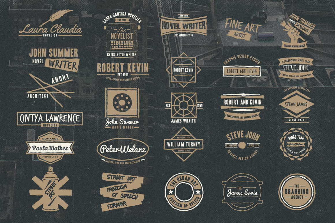 50 Vintage Personal Logo By Tsv Creative Thehungryjpeg Com