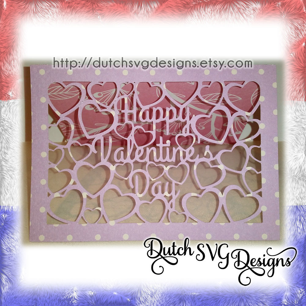 Valentine Card Cutting File Happy Valentine S Day With Cutout