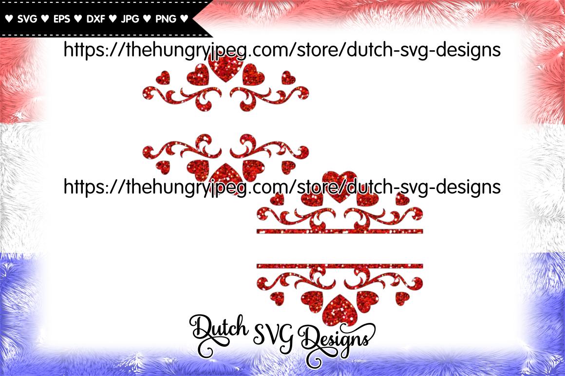 2 Split Monogram Cut Files Monogram Svg Split Monogram Svg Love