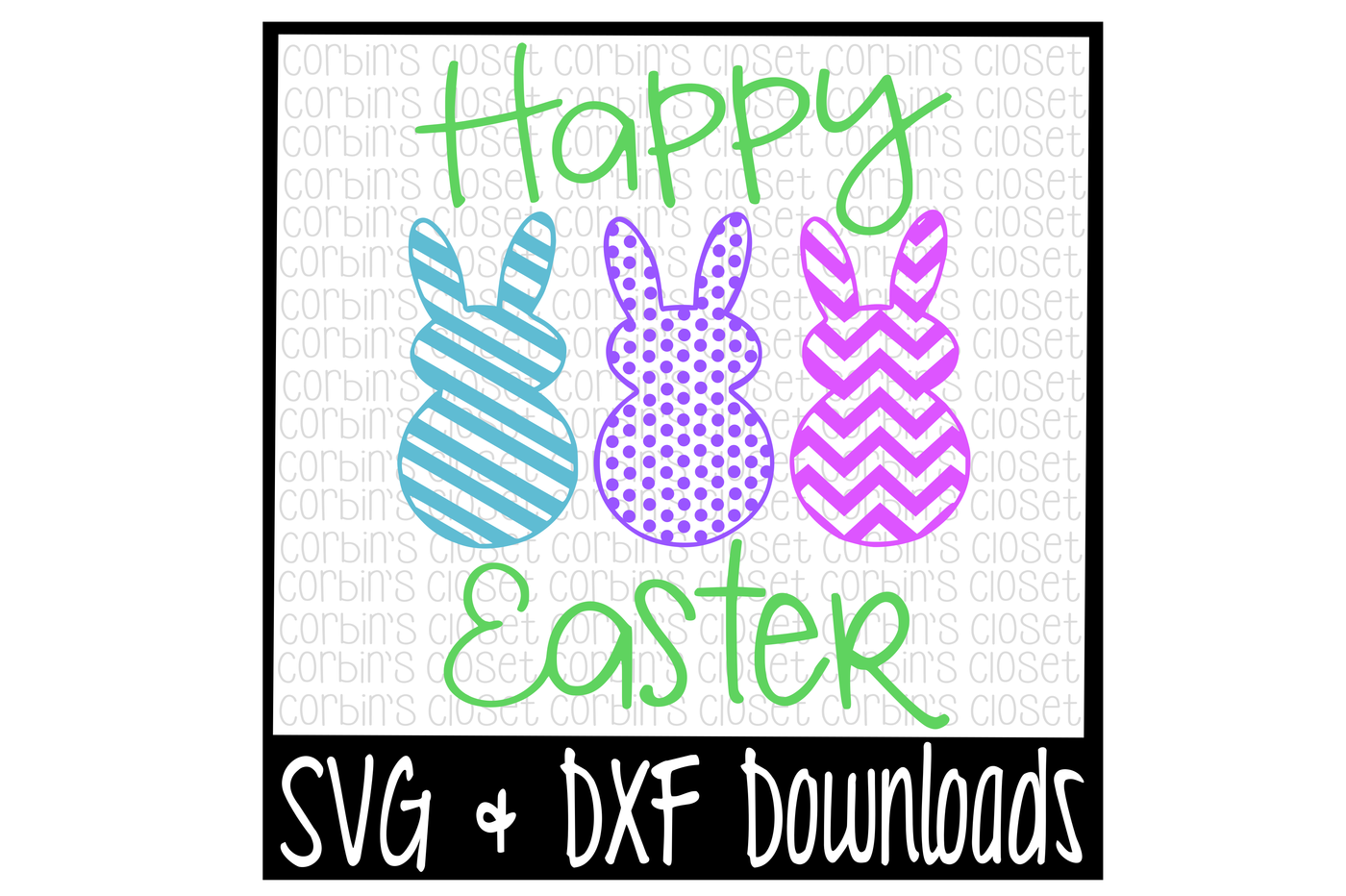 Happy Easter Bunny Easter Bunny Cut File By Corbins Svg