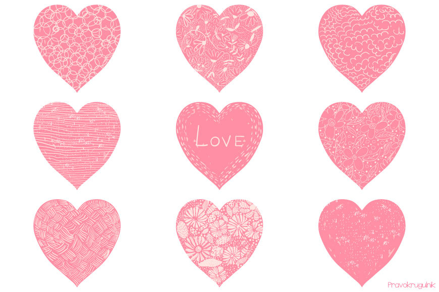 Hearts for Valentine's Day clipart. Free download transparent .PNG |  Creazilla