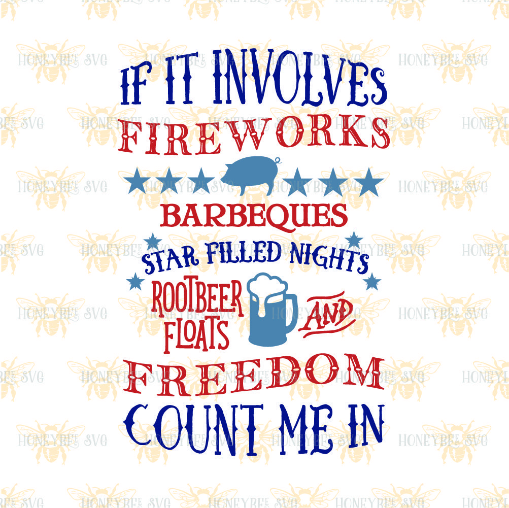 Fireworks Count Me In By Honeybee Svg Thehungryjpeg Com